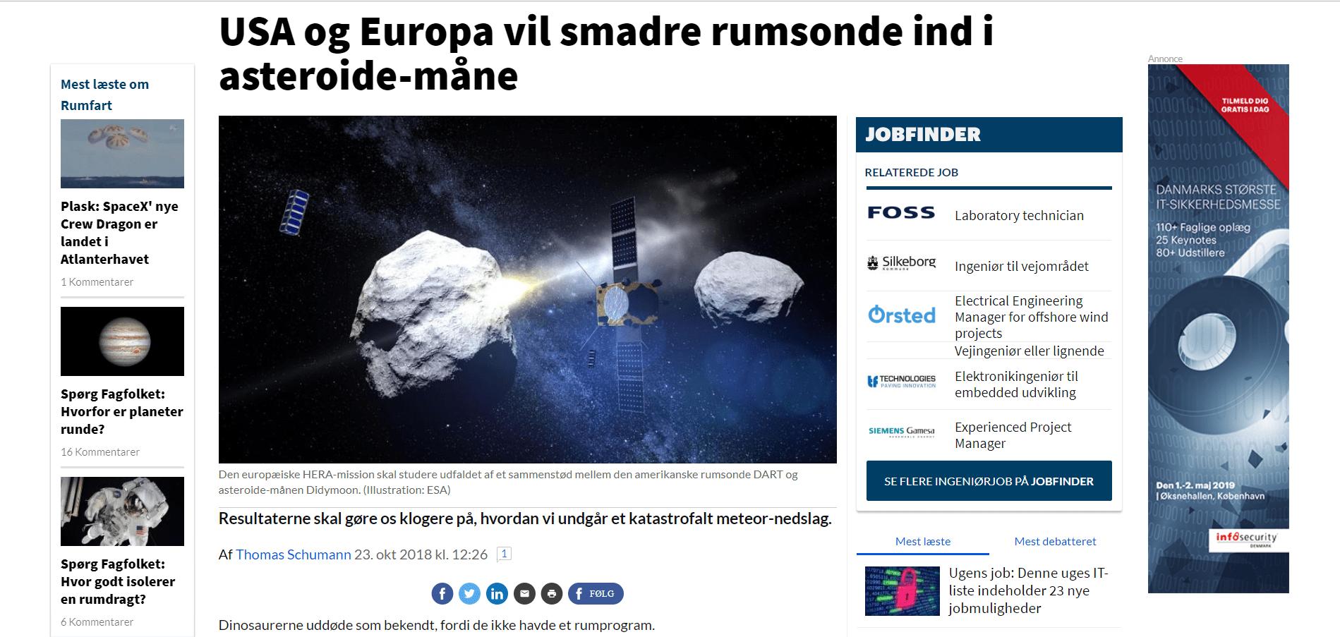 USA og Europa vil smadre rumsonde ind i asteroide-måne _ Ingeniøren - Google Chrome 21_03_2019 11.40.08